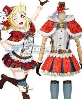 Love Live! Sunshine!! Aqours Mari Ohara Christmas Ver. Cosplay Costume
