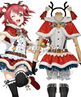Love Live! Sunshine!! Aqours Ruby Kurosawa Christmas Ver. Cosplay Costume