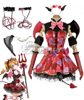 Love Live! Lovelive! Halloween Honoka Kousaka Little Devil Ver. Cosplay Costume