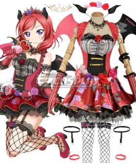 Love Live! Lovelive! Halloween Maki Nishikino Little Devil Ver. Cosplay Costume