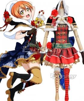 Love Live Christmas Ver. 2 Rin Hoshizora Cosplay Costume