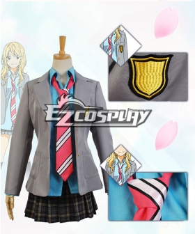 Your Lie in April Kaori Miyazono Uniform Dress Suit Cosplay Costume