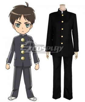 Shingeki! Kyojin Chuugakkou Attack On Titan: Junior High Levi Cosplay Costume