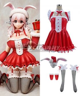 Super Sonico Santa Version Christmas Cosplay Costume