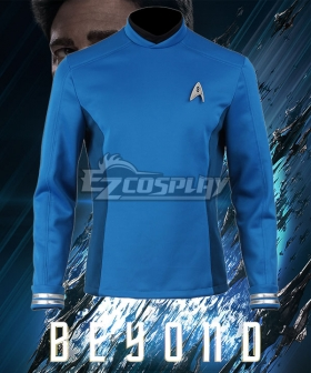 Star Trek Beyond Leonard H. McCoy Bones Spock Blue Top Cosplay Costume