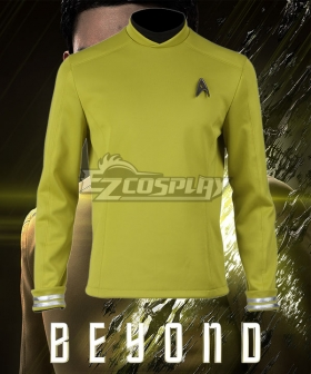 Star Trek Beyond James Tiberius Kirk Hikaru Sulu Yellow Top Cosplay Costume