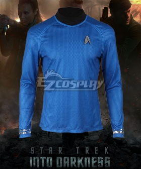 Star Trek Into Darkness Leonard H. McCoy Bones Spock Blue Top Cosplay Costume - A Edition