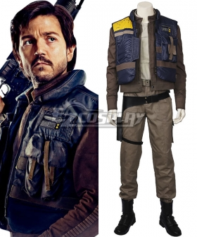 Rogue One: A Star Wars Story Captain Cassian Andor Cosplay Costume - Including Boots
