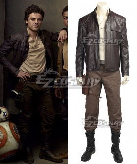 Star Wars The Last Jedi Poe Dameron Cosplay Costume - No Boots