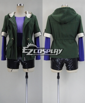 Tokyo Ghoul Touka Kirishima Green Hoodie Cosplay Costume