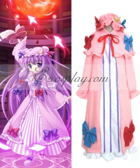 Touhou Project Patchouli Knowledge Pink Cosplay Costume