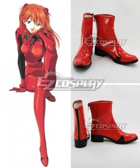 EVA Neon Genesis Evangelion Asuka Langley Sohryu Red Black Cosplay Shoes