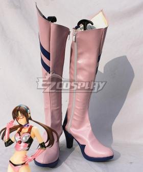 EVA Neon Genesis Evangelion Mari Makinami Illustrious Pink Shoes Cosplay Boots