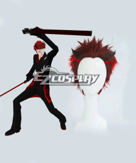 RWBY The White Fang Adam Taurus Red Hair Cosplay Wig