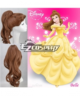 Beauty and the Beast Belle Brown Cosplay Wig