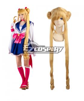 Sailor Moon Tsukino Usagi Princess Serenity JK School Uniforms Anime Style Long Orange Cosplay Wig
