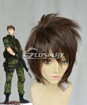 Gate Jieitai Kanochi nite Kaku Tatakaeri Gate Thus the JSDF Fought There Youji Itami Brown Cosplay Wig