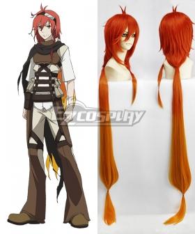 Rokka Braves of the Six Flowers Rokka no Yusha Adlet Myer Adoretto Maiya Orange Red Cosplay Wig
