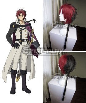 Seraph of the End Battle in Nagoya Owari no Serafu Vampire Reign Crowley Eusford Red black Cosplay Wig