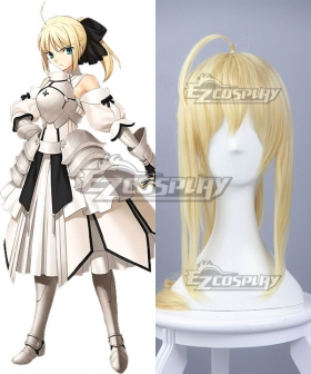 Fate Stay Night Fate Grand Order Saber Lily Altria Pendragon King Arthur Yellow Cosplay Wig