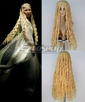 The Hobbit Fairy Queen Galadriel Long Curly Cosplay Wig
