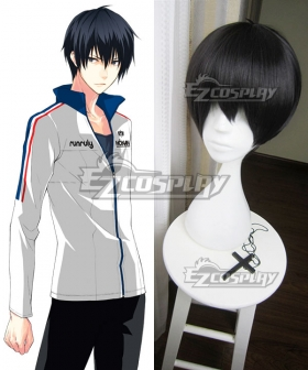 Prince of Stride Alternative Hounan School Takeru Fujiwara Black Cosplay Wig