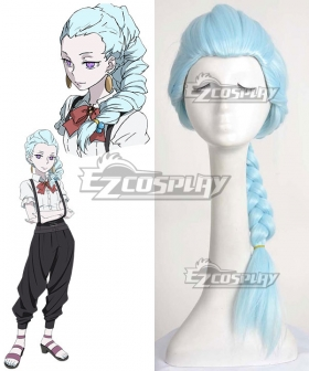 Death Billiards Nona Blue Cosplay Wig
