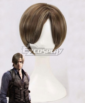 Resident Evil Leon Scott Kennedy Brown Cosplay Wig
