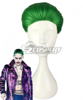 DC Detective Comics Batman Suicide Squad Task Force X Joker 2016 Movie Green Cosplay Wig