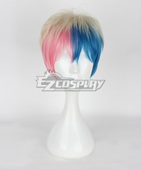 DC Suicide Squad Harley Quinn Male Multicolor Cosplay Wig