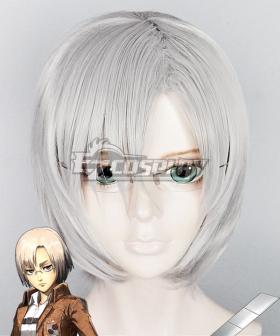 Attack on Titan Shingeki no Kyojin Rico Silver grey Cosplay Wig - Only Wig
