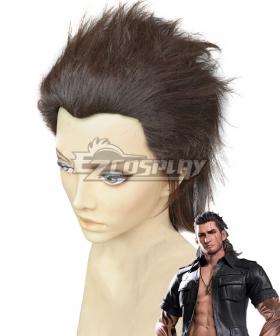 Final Fantasy XV Gladiolus Amicitia Brown Cosplay Wig
