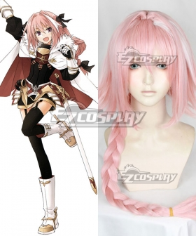 Fate Grand Order Fate Apocrypha Rider of Black Astolfo Pink Cosplay Wig