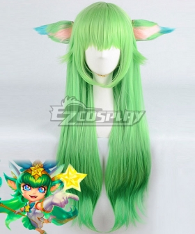 League of Legends LOL Star Guardian Lulu Green Cosplay Wig