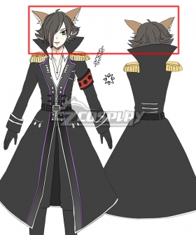 Show By Rock UR Amatelast Black Cosplay Wig - Wig + Ears