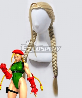 Street Fighter V Cammy Light Golden Cosplay Wig
