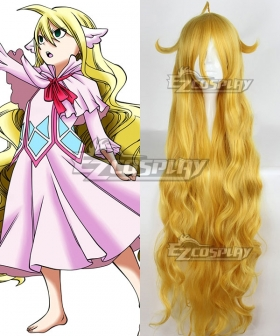 Fairy Tail Mavis Vermilion Golden Cosplay Wig
