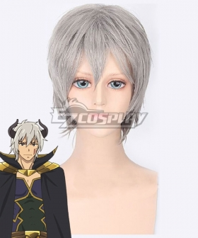 How NOT To Summon A Demon Lord Isekai Maou To Shoukan Shoujo Dorei Majutsu Takuma Sakamoto Diablo Silver White Cosplay Wig