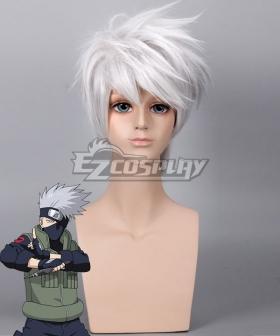 Naruto Kakashi Hatake Silver White Cosplay Wig - Only Wig