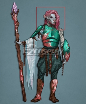Critical Role Caduceus Clay Pink Cosplay Wig