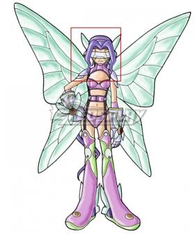 Digimon Kazemon Fairimon Purple Cosplay Wig