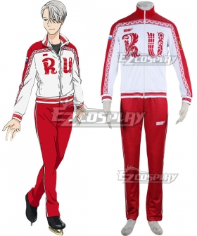 Yuri on Ice YURI!!!on ICE Victor Nikiforov Sportswear Suit Outfit Cosplay Costume - New Edition