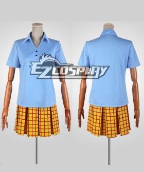 Yowamushi Pedal Girl Summer Blue Uniform Cosplay Costume