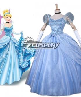 Disney Ainimation Cartoon Cinderella Princess Cinderella Cosplay Costume