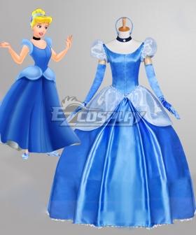 Disney Princess Cinderella Blue Copslay Costume