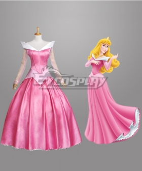 Disney Sleeping Beauty Pincesss Aurora Dress Cosplay Costume