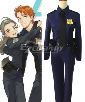 Disney Zootopia Officer Judy Hopps Cosplay Costume
