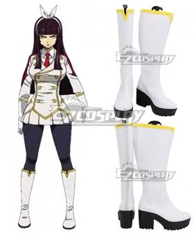 Fairy Tail Kagura Mikazuchi White Shoes Cosplay Boots