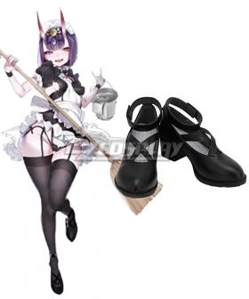 Fate Grand Order Assassin Shuten Douji Maid Black Cosplay Shoes