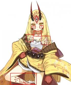 Fate Grand Order Berserker Ibaraki Douji Tattoo stickers Cosplay Accessory Prop